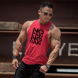 Clothing No Pain No Gain Gyms Stringer Tank Top Men Bodybuilding Tanktop Singlet Fitness Sleeveless Vest Muscle Undershirt