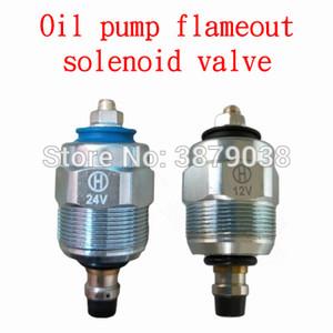 Isuzu bomba de óleo da válvula solenóide Cum-min Ivecco VE bomba Flameout interruptor de controle da válvula de solenóide 12V 24V T0207