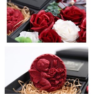 Scented Soap Artificial Rose Bathable Angel Rose Gift Box Wedding Birthday Girlfriend Romantic Fragrant Petals Flowers