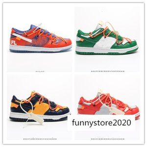 Stock Futura X Sb Dunk Low OFF Casual Shoes Women Mens Designer Green Orange Blue White Dunks des Chaussures Taquets