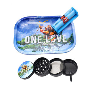New smoking set cartoon Rolling Tray , Herb Grinders, multiple patterns grinder coordinates Accessories tools Rolling Trays dhl free
