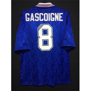 Retro Glasgow Rangers 1996-1997 Football Maillots Gascoigne McCoist Laudrup Futbol Kit Football Vintage Camiseta classique Chemi