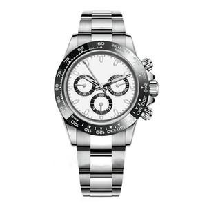 Reloj de movimiento automático para hombre de lujo Reloj Completo Zafiro Tona Serie M116519 Simple Silver Silver Steel Strap Master Mens Watch
