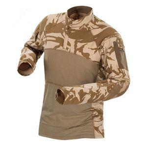 Men Tactical T-shirt Summer Army Camouflage Combat T Shirt Long Sleeve Militar Armt Shirt Outdoor Hunting Elastic Shirts