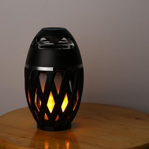 Creative Mood Lamp Bluetoot 4.2 Speaker with tourch LED Light,flame atmosphere Lamp Bonfire Light Effect Stereo loudspeaker for bedroom gift