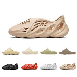 Сток X дешевые кости мужские роскошные дизайнерские тапочки пены бегун Канье Уэст пустыня песок смолы пляж женщины мужчины слайды тапочки сандалии