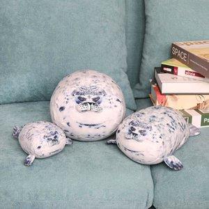 20cm 34cm 42cm almohadilla animal Simulación sello muñeca de la felpa animal de mar suave grasa que abraza la muñeca rellena regalo de la felpa del bebé niños de juguete