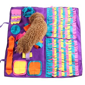 Blanket Dog Snuffle Mat Cat Pet Puppy Sniffing Training Pad Filhote de actividade de formação destacáveis Velo Pads