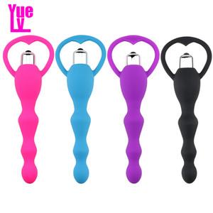 YUELV Silikon Anal Vibratör G-spot Teşvik Anal Boncuk Titreşimli Masaj Butt Plug Mastürbasyon Yetişkin Seks Oyuncakları Kadın Erkek Erotics Için oyuncaklar