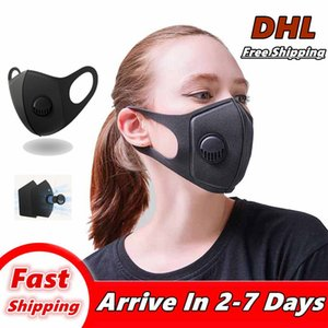 En las máscaras de la cara envío libre de DHL Anti-Polvo de la boca de algodón máscara protectora del Unisex Hombre Mujer Ciclismo Con máscaras Negro Moda 005