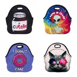 판매 잘 절연 쿨러 점심 가방 네오프렌 재질 피크닉 인쇄 가방 핸드백 유니콘 패턴 다른 디자인 인기 17xdH1
