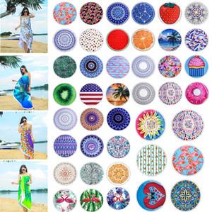 Mikrofaser Runde Badetuch mit Quaste 150cm Sommer Blanke Polyester gedruckte Badetücher Schwimmen Sunbath Yoga MatsTowel 4824