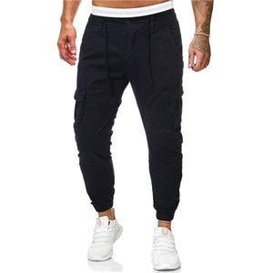 Tasche Mulit progettista del Mens Pants tasti di modo Mens Cargo pantaloni alla caviglia casual pantaloni Banded Abbigliamento maschile