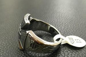 Хип-хоп Мода Новые кольца из нержавеющей стали Мужские и женские Harley Rings Бесплатные Оптом и в розницу