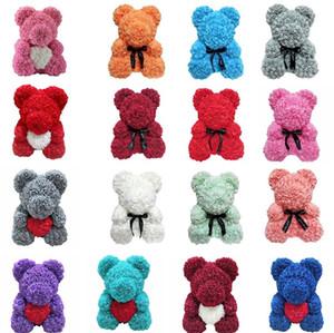 Nova vida eterna rosa urso presente de natal espuma rosa flor festa de aniversário urso de pelúcia presente de casamento t8