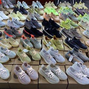 Kanye West azufre Israfil Abez Eliadá Tie-dye reflexivo transparente Hombres Mujeres top calzado Zyon White Cloud Belgua cebra calzado para correr Bred
