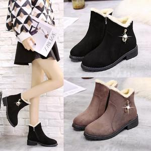 2019 inverno botas crianças novas botas curtas-coreano estudantes de moda selvagem além de veludo sapatos de algodão grosso Martin botas de maré