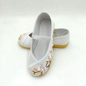 Línea Celebrity Ropa china Apoyo zapatos bordados vendimia étnico-estilo de ropa china zapatos viejos de Pekín Craft Uni