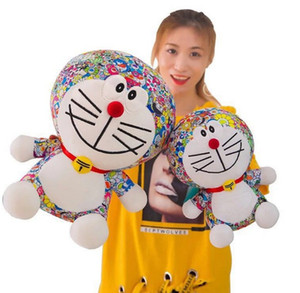 Açık Hızlı Yayın Sevimli Murakami Takashi Ayçiçeği Peluş Yastık Oyuncak Yumuşak Yastık Kanepe Bebek Kakakiki Doraemon