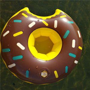 Gonfiabile Donut Drink Cup Holder Tre coulours scegliere Holder Summer Pool di giocattoli acquatici bevande decorazione della festa Buon divertimento con gli amici