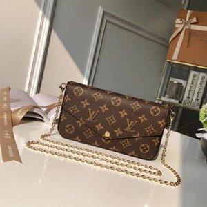 Le sac de dame élégante et luxueuse contient deux poches amovibles, ce qui est un choix à la mode pour le transport et l'organisation de votre n jour