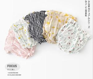 Bebê menina calções roupas de verão Meninas Flor ou Xadrez impressão de todos os jogo 100% algodão Bebê PP curto multi cores