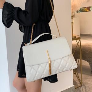 Retro Lingge catena Big nappa Donne Borse Tracolle Pu Leather Crossbody Bag Large Tote signora Purse Nuovo