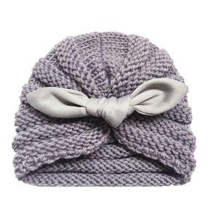 Bebek Örgü Şapka Bow Şapkalar Kış Sıcak Yenidoğan Bow Şapka Yumuşak Elastik Yün Beanie Cap Kafa HA1018