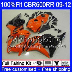 Einspritzung für HONDA CBR 600RR CBR600 RR 2009 2010 2011 2012 282HM.39 CBR 600 RR 600F5 F5 Orange schwarz heiß CBR600RR 09 10 11 12 Verkleidungssatz
