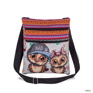 New Product Woman Package Jacquard Weave Spiraea Owl Shopping Bag Leisure Time Fashion Single Shoulder Canvas Bag Factory