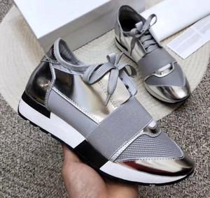 2020 Новый Человек женщина кожа Повседневная обувь Low Cut дышащая сетка тапки на открытом воздухе Кроссовки Runner обувь SneakerUS5-11.5 OL2L