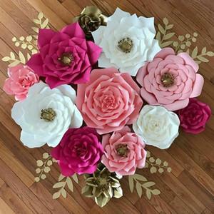 YENİ Kağıt Çiçek Backdrop Duvar Dev DIY Gül Çiçek Düğün Dekor 30 cm
