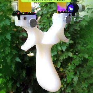 Resina blanca Tirachinas Tiro con arco Catapulta Caza con lámpara Puntos de puntería Banda de goma elástica plana Tiro al aire libre Tiro con arco del tiro al blanco