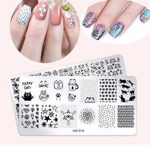 1 pcs En Acier Inoxydable Nail Art Estampage Plaques 25 Modèles Printemps Animaux Fleurs Nail Modèle Diy Polonais Nail Art Décoration