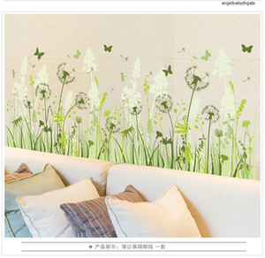 Waterproof Classrooms Dandelion Children Baseboard Removable Mural Sticker Wall Stickers Home Decoration Pvc Kid Decoration Gift