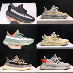2020 Kanye West Citrin Chaussures Hommes Hommes Basketball Chaussure de course Chaussures de sport les plus récents femmes Clay véritable forme de zèbre blanc statique 3M Formateurs réfléchissantes