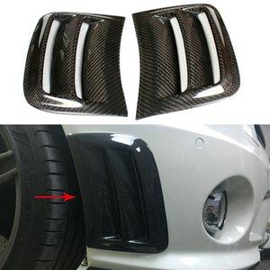 Углеродное волокно передний боковой бампер вентиляционное отверстие крыло планки для Benz W204 C63 AMG 08-11