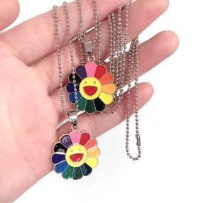 Радуга ожерелье прекрасного подсолнух улыбающихся любовники лица любовь подсолнечного ювелирные изделия ожерелья