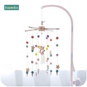 Bopoobo Baby Mobile Hanging Rattles Toys Wind-up Music Box Hanger DIY Hanging Baby Crib Mobile Bed Bell Toy Holder Brack