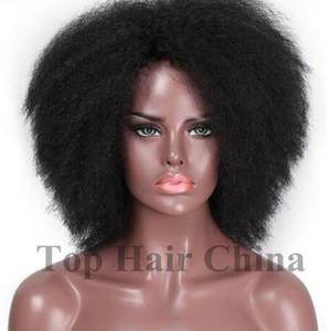 Üst Saç Çin Ünlü Peruk Kısa Siyah Seksi Peruk Yüksek Kalite Klasik Stil Peruk Sapıkça Kıvırcık Sentetik Saç Tam Peruk Wholesal