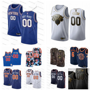 BenutzerdefiniertNeuYorkKnicks 13 Morris 30 Randle 9 Barrett 1 Portis 23 Robinson Männer Frauen Jugendliche Alle Name Nummer 19/20 Basketball-Trikots