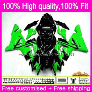 100% Fit injection Pour KAWASAKI ZX1000 C ZX 10 R ZX10R 04 05 Vert noir 62HM.2 ZX10R 04 05 ZX1000C ZX 10R 2004 2005 OEM Carénage Kit