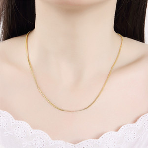 Necklace Chains a Necklace Pendant Joker Box Chain Deserve to Act the Role of Long Sweater Chain Box Seed Chain Extension Accessories