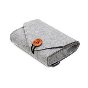 Pacchetto chiavi portamonete Mini sacchetto di feltro Home Storage Organizer SD Card Power Bank Data Cable Travel Organizer