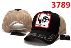 Moda Baseball Cock Caps Casual Mesh Snapback Cap Ricamo Orso coccodrillo Cock Wolf Ball Hat Alta qualità New Summer Outdoor Sun Hat