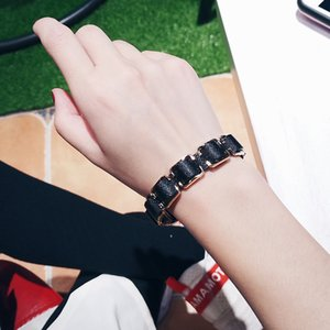 Luxury Jewelry European and American Fashion Geometric Chain Punk Bracelet Men and Women Temperament Retro Personality Trendy Bracelet Jewel