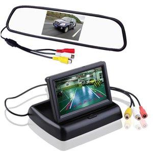 Автомобиль HD створка может монитор 5 дюймов вид сзади автомобиля монитор TFT ЖК-дисплей заднего стекла помощь CCD видео автоматическая парковка индикация