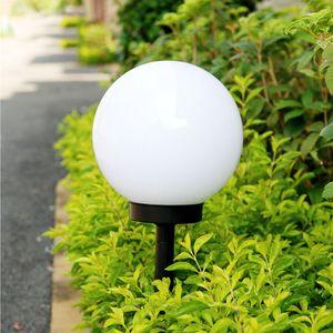 Lámpara de bombilla Led con energía Solar 33 cm impermeable al aire libre jardín calle Panel Solar bola luces césped patio paisaje decorativo