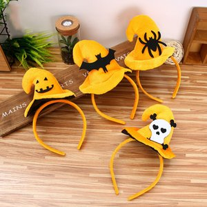 4 Styles Cute Headband Pumpkin Bat Hat Toys Halloween Party Costumes Toys For Adults and Children Decoration Toys L172