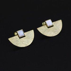 Kadınlar Moda Bildirimi Takı için INATURE 925 Gümüş Beyaz Geometrik Shell Küpe